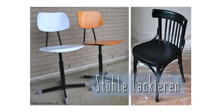 Stühle lackieren: worauf muss man achten? Welchen Lack braucht man? Wie lackiert man Metall am besten?