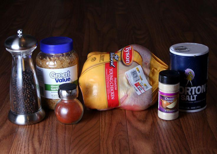 make your own rotisserie chicken in a crockpot.