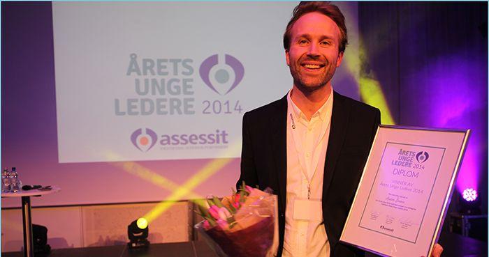 Anders Bostad Årets Unge Leder 2014 Statnett