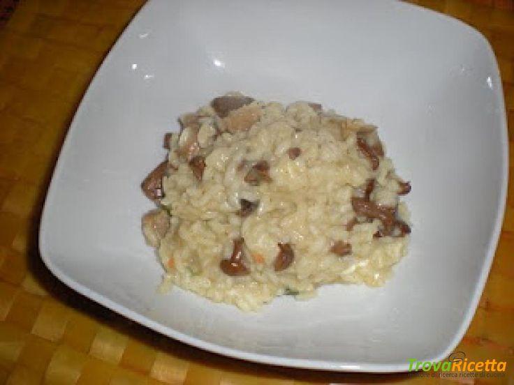 RISOTTO DI FUNGHI CON CAPRINO  #ricette #food #recipes