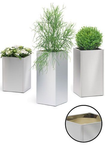 GREENS STAINLESS STEEL TALL PLANTERS from $359 @ puremodern.com