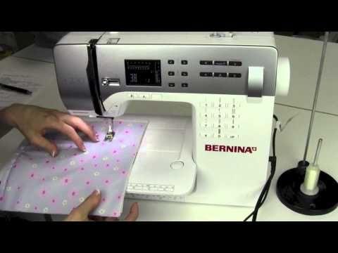 Bernina 330 22 Hand Look Quilt Stitch - YouTube