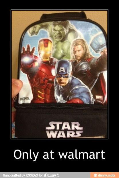 Fail starwars avengers only at Walmart you had one job / iFunny :)