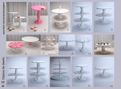 Más tamaños | torres y alzadas para cupcakes/soportes para cupcakes, via Flickr.