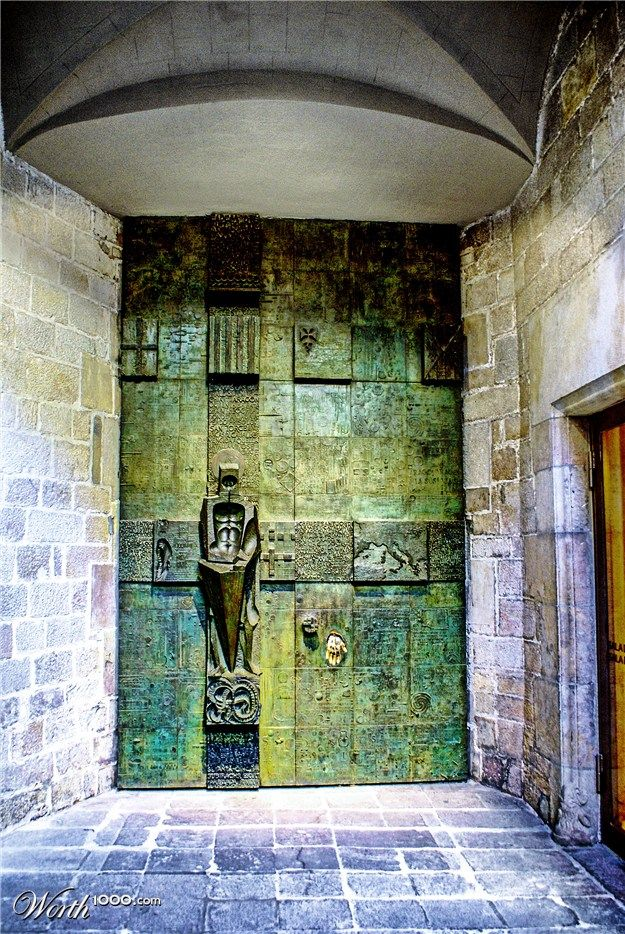 unusual door. love that patina!!!