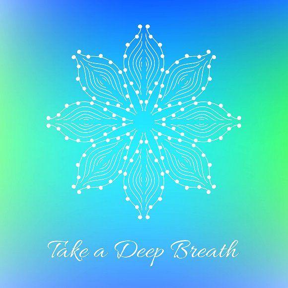 Take A Deep Breath Decorative Card Decorative Card Abstract Take A Deep Breath