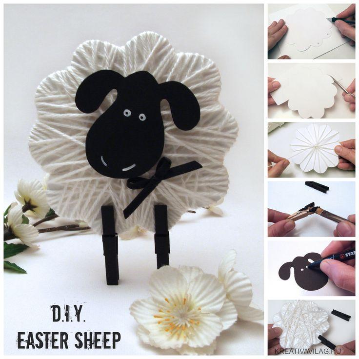 D.I.Y. Easter sheep - Húsvéti bárány