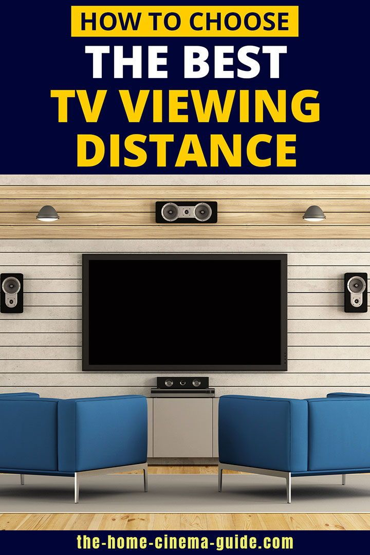Understanding Tv Viewing Distance And Hdtv Sizes Tv Viewing Distance Home Cinemas Tv