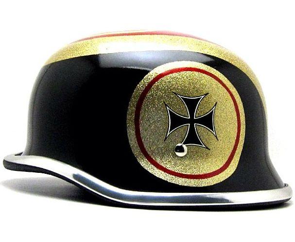 custom cross paint german helmet