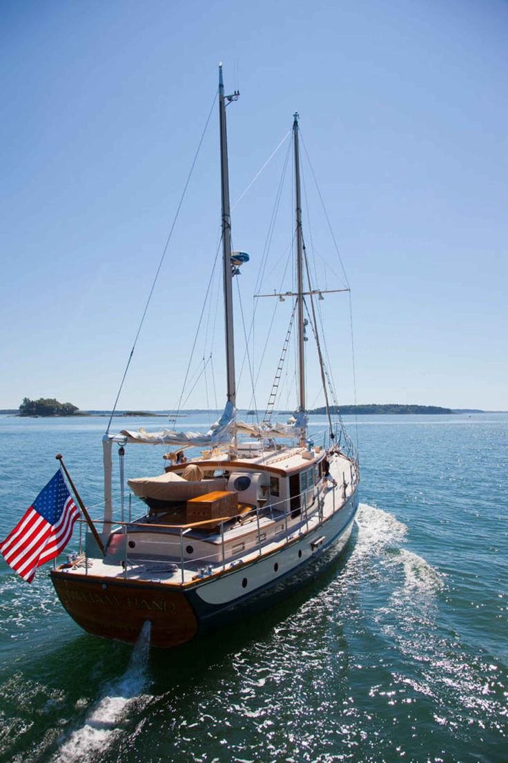 The classic 1933 William Hand motorsailer may charm the sea boots off your feet.