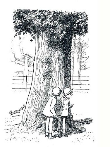 The Morning Walk - Now We are Six, 1927 by A A Milne illustrated by E H Shepard