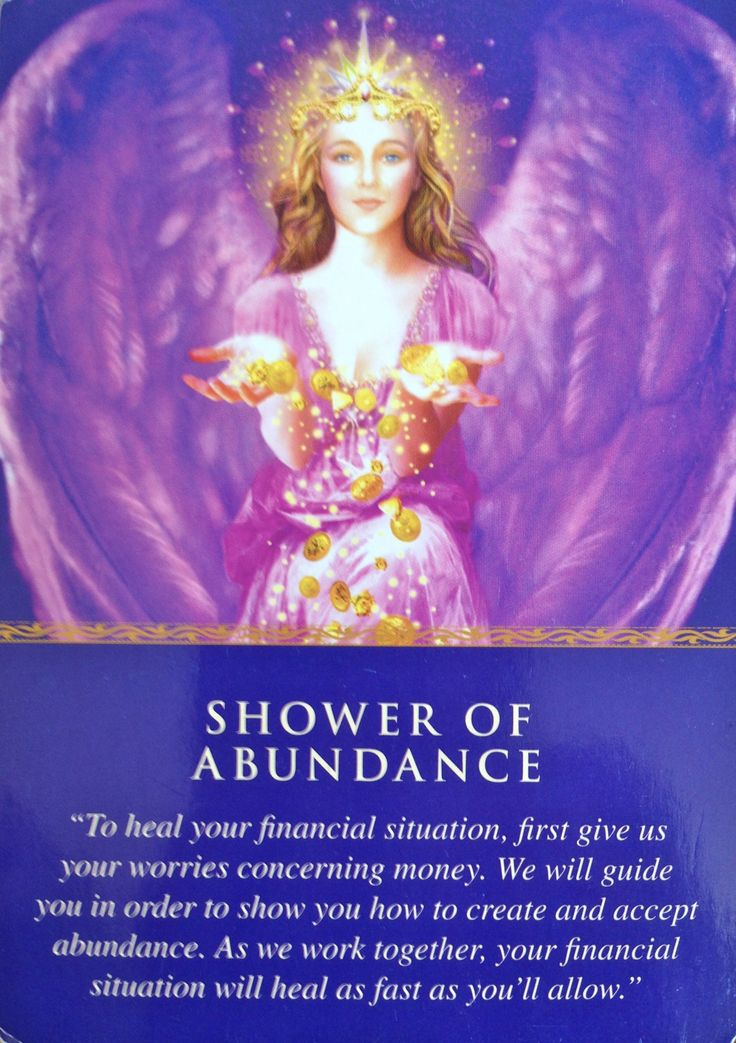 From The Doreen Virtue Daily Guidance from your Angels Oracle Card Deck