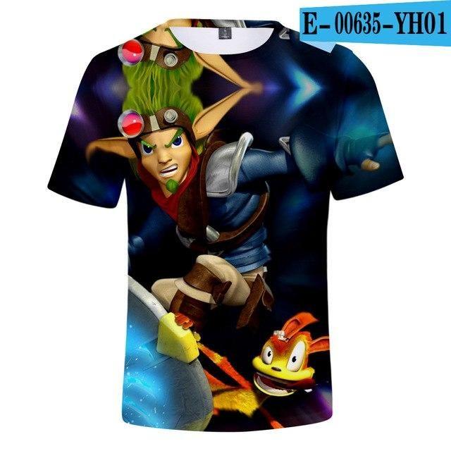 O Neck Jak 3 T-shirt Boy's/Girl's Fashion Men/Women