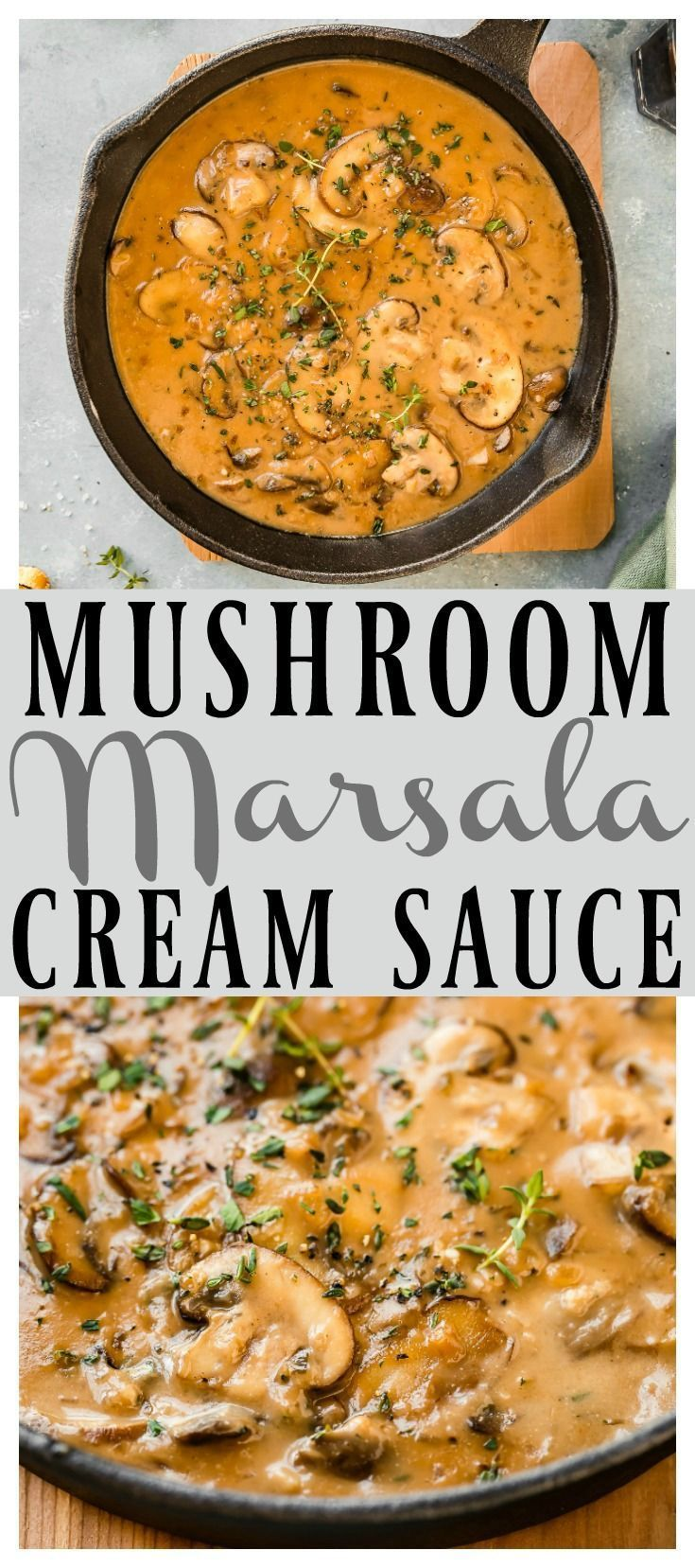 Mushroom and Marsala Cream Sauce with Video Recipe | This easy-to-prepare sauce is luxurious …   – Dressings