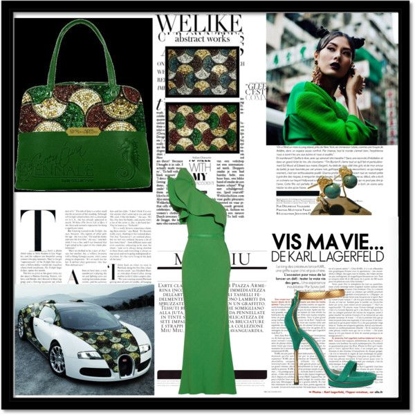 """""""Green - Bemomartins - MCreations"""" by alvufashionstyle on Polyvore"""