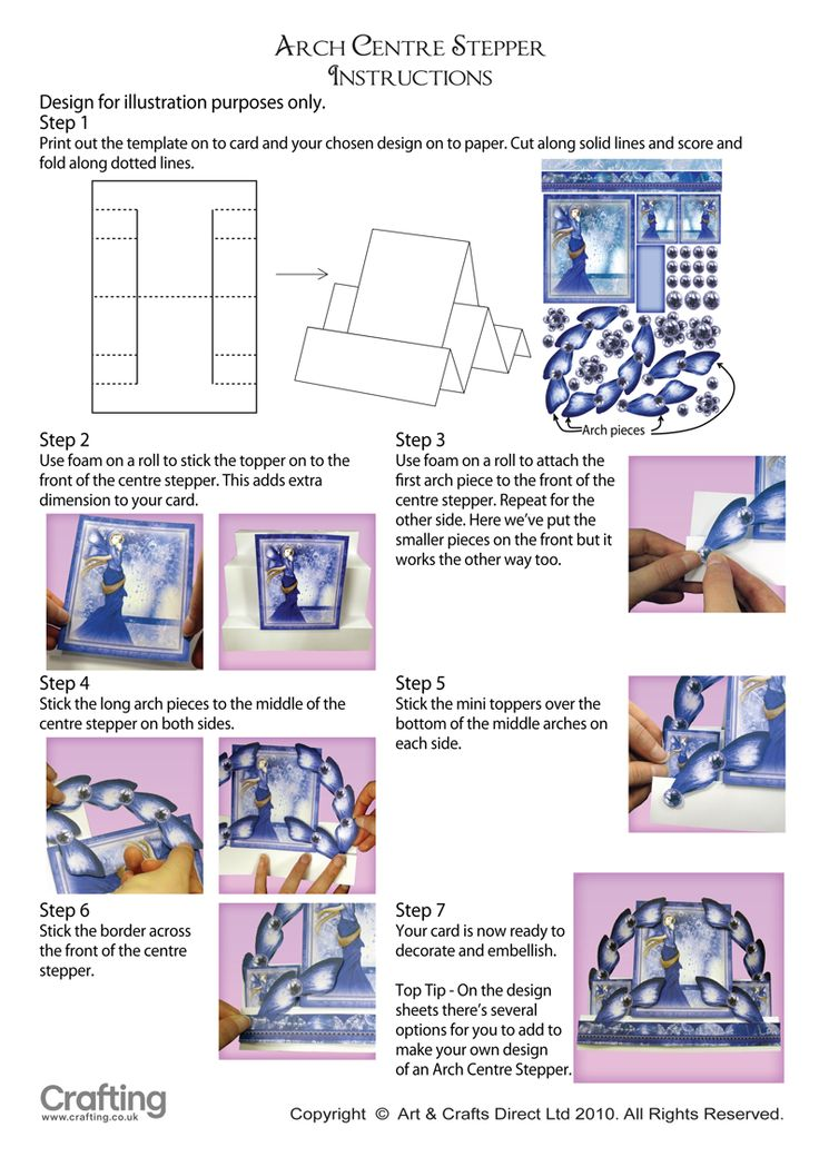 Arch Center Stepper Instructions Side Step Card Easel Cards Fancy Fold Cards