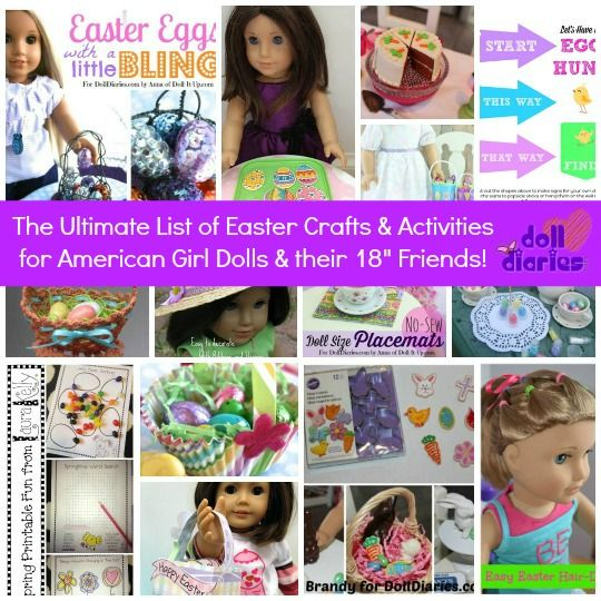 "Ultimate List of Easter Crafts and Activities for American Girl Dolls and their 18"" Friends"