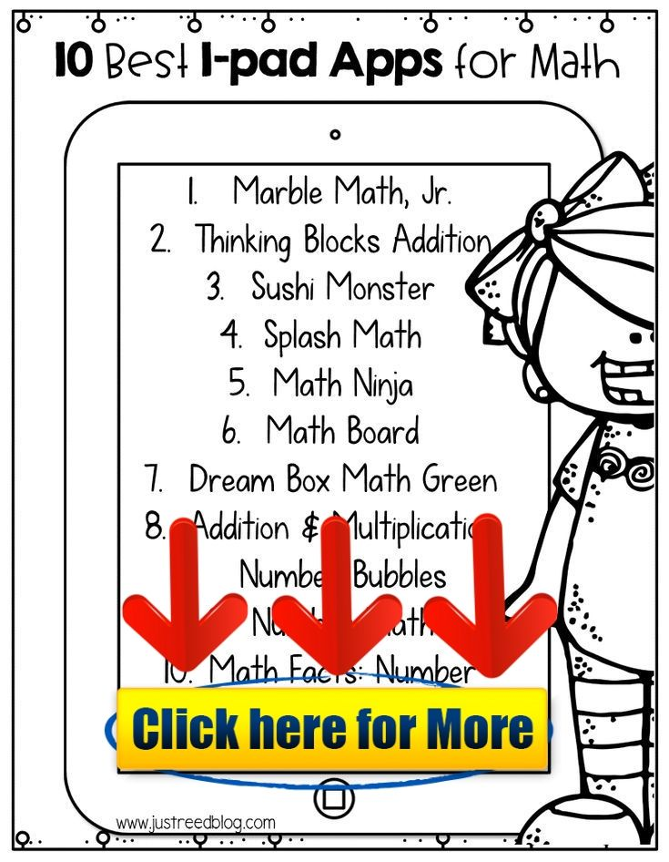 Top Ten Math Apps for K-2 with a Free Parent Handout #android