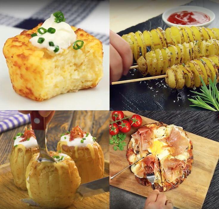 Möchtest du mal etwas Neues mit Kartoffeln ausprobieren? Dann findest du in diesem Video unsere 5 besten Rezepte für Kartoffeln. Spiralkartoffeln, Kartoffelpizza und und und ... eines leckerer als das andere! #rezept #kartoffeln #erdäpfel #kartoffelrezepte #ofenkartoffel #gefüllt #kartoffelpizza