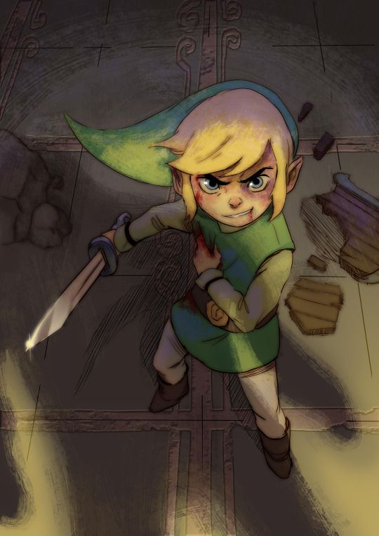 """""""He's no longer a child…"""" - tribute to Link for Character Design Challenge"""