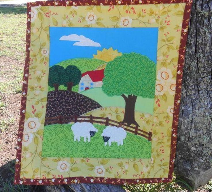 Applique Farm Scene Craftsy Applique Wall Hanging