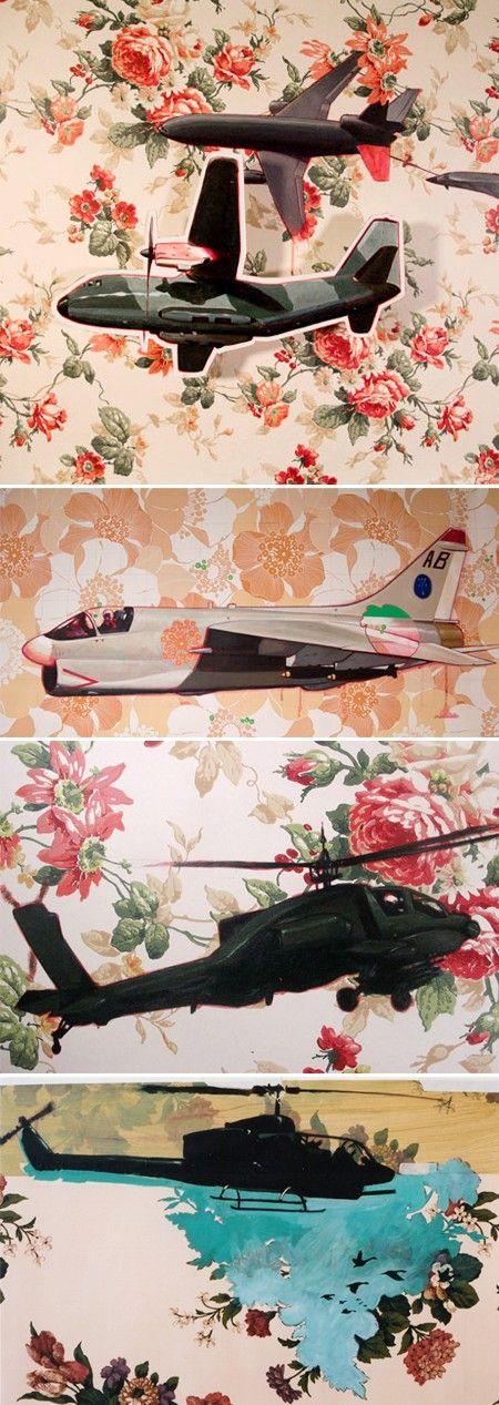 elicotteri su fiori