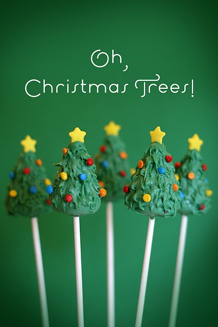 food -- christmas tree cake pops