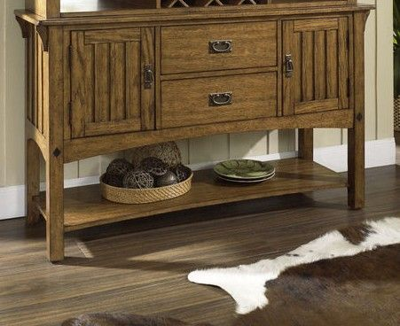 Craftsman Dining Server W Hutch Room Table Sets Bedroom Furniture Curio Cabinets And Solid Wood