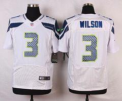 on sale 1e0fa 1c900 nike seattle seahawks 3 russell wilson white elite jersey