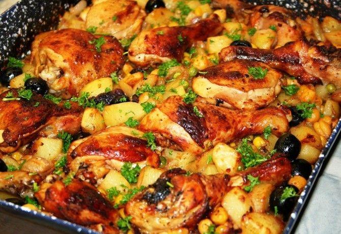 Tepsis csirkecomb zöldségekkel recept képpel. Hozzávalók és az elkészítés részletes leírása. A tepsis csirkecomb zöldségekkel elkészítési ideje: 90 perc