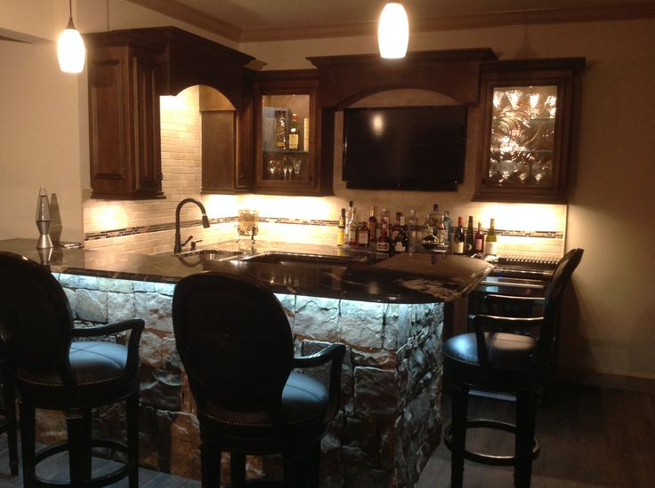 pics for basement bar stone. Black Bedroom Furniture Sets. Home Design Ideas