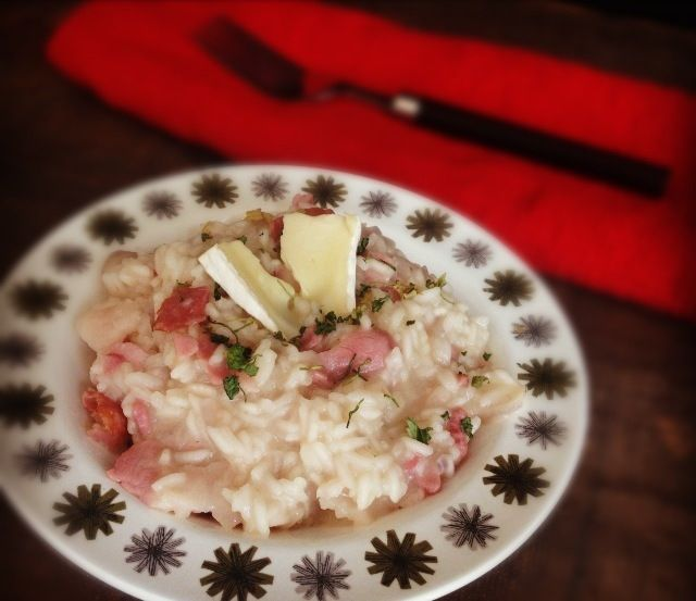 Brie and bacon risotto - budget recipes