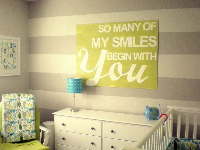 So Many Of My Smiles Begin With You....so cute and would look great in a boys or girls nursery!