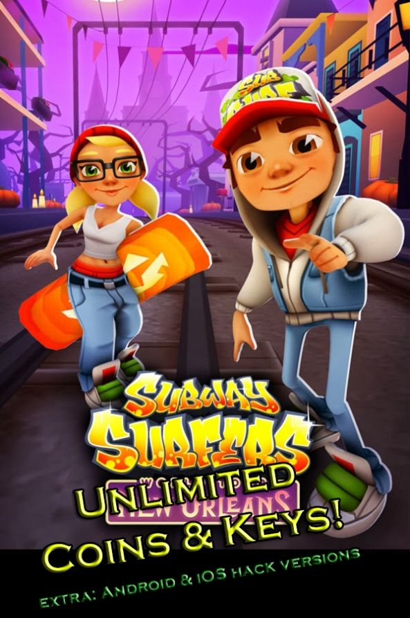 You will not find better Subway Surfers Hack v4.3.0 unlimited coins/keys because this is the best! Just try now Subway Surfers Hack! Subway ...