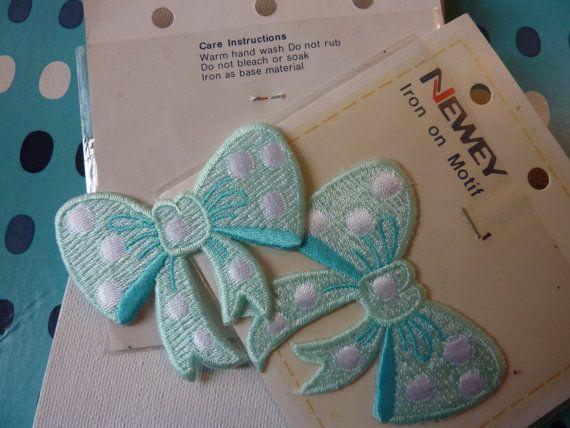 The sweetest vintage iron on cloth transfer polka dot by MrsJoyful, $8.00