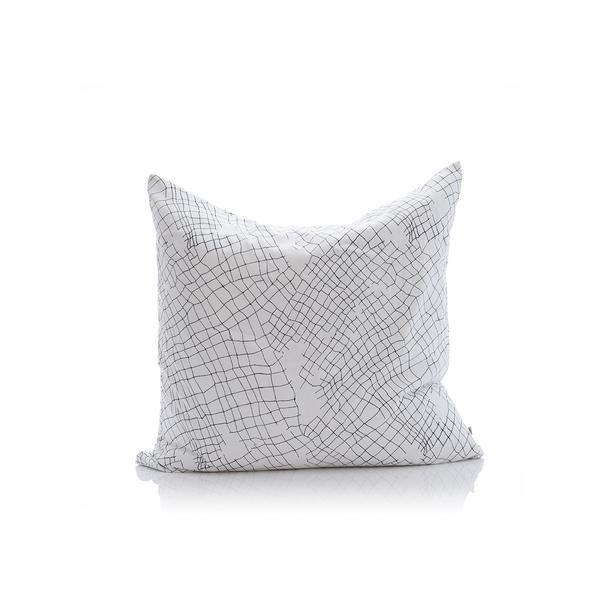 white net organic cotton large cushion cover