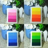 Wish | Latest DIY Oil Scrapbook Albums Gradient Stamp Set Ink Pad Inkpad Craft Tin