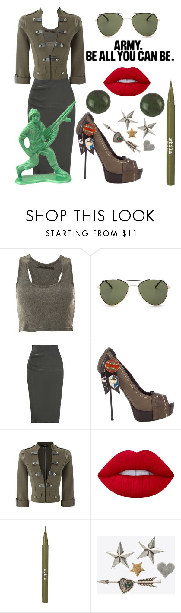 """ATTENTION !"" by stephanie-mac ❤ liked on Polyvore featuring Crafted, BCBGMAXAZRIA, Lanvin, Gianmarco Lorenzi, Lime Crime, Stila and Yves Saint Laurent"