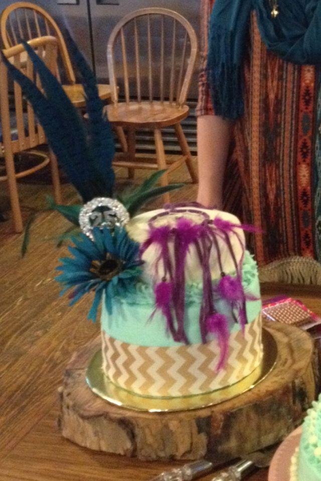 Jade's 25th Birthday Cake!  Boho Chic Tribal Dreamcatcher Cake!!!!!