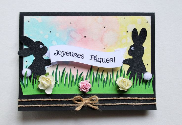 SCRAPBOOKING - Carte Pâques # 2 (Easter Card # 2)