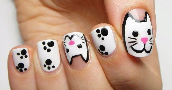 Adorables gatitos pintados en tus uñas - http://xn--decorandouas-jhb.com/adorables-gatitos-pintados-en-tus-unas/