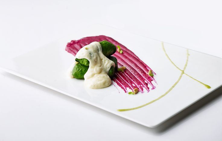 "Lettuce leaves stuffed with Cray fish & ""Augolemono"" sauce at the Belvedere Restaurant, Mykonos by Nikos Zervos"