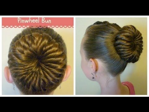 Pinwheel Bun Hairstyle, Video Tutorial