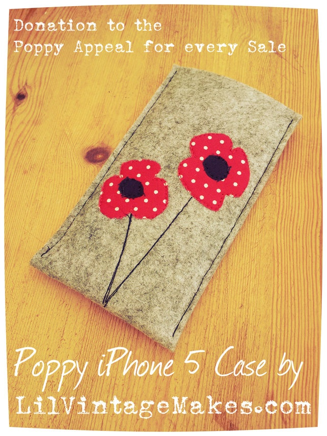 iPhone Mobile Phone Case Sleeve Cover POPPY APPEAL £8.00