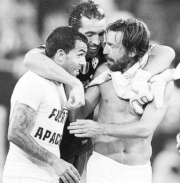 Tevez, Pirlo y Buffon Juventus