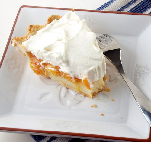 Peach Cream Pie | Baking and Cooking Blog - Evil Shenanigans