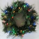 Best Cheap Battery Lit Christmas Wreaths   Pre-Lit Weather Proof Battery Operated LED Wreath With Timer Twinkle/Solid Multi-Color