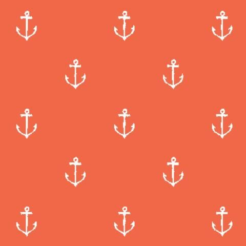 Michael Miller - Best of Sarah Jane Collection - Anchors Away in Coral by Bobbie Lou's Fabric Factory