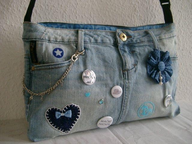 recycling jeanstasche von n hwittchen auf jeanstaschen pinterest jeanstasche. Black Bedroom Furniture Sets. Home Design Ideas