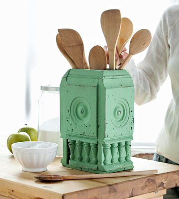17 best images about architectural salvage on pinterest greenhouses columns and shabby - Unique kitchen utensil holder ...